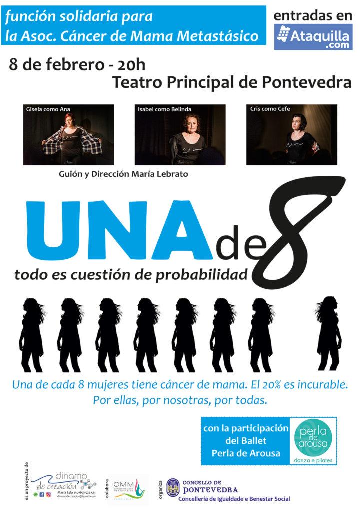 """Cartel da obra de teatro """"UNA DE 8"""""""