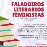 Cartel FALADOIROS LITERARIOS FEMINISTAS